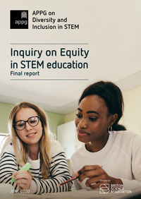 Equity in STEM Education report cover